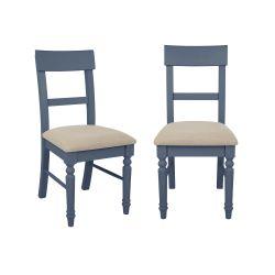 2 sillas tapizadas Dorset azul empolvado