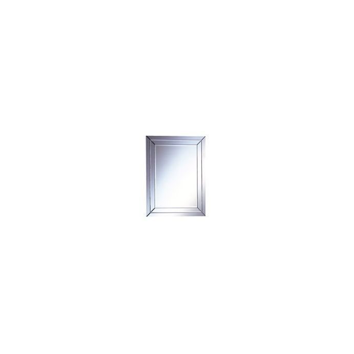 espejo rectangular de diseño con marco espejado