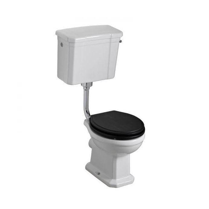 set WC y cisterna elevada Bloomsbury negro