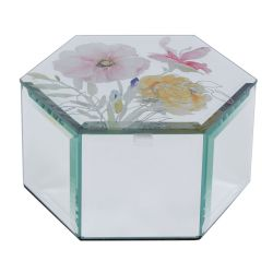 caja espejada exagonal Corinne