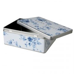 Caja de galletas de metal China Rose