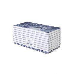 set de 2  mugs cerámica azul en caja de regalo