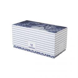set de 2 mini mugs cerámica azul en caja de regalo