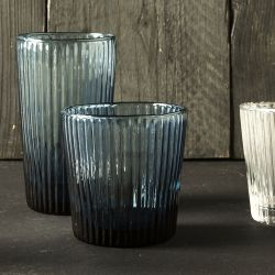 vaso de cristal azul 35cl