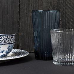 vaso de cristal alto azul 46cl