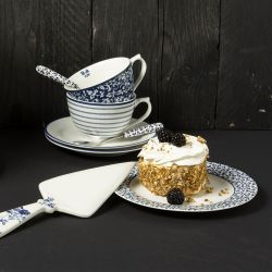 paleta para tartas cerámica azul