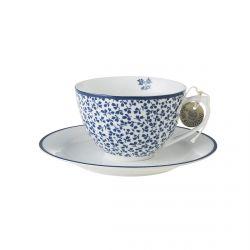 taza cappuccino y plato Floris