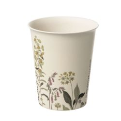 4 vasos Botanical Floral de bambú