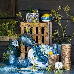 vaso acrílico azul prensado