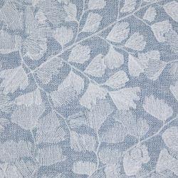 Cojín bordado Maidenhair azul mar