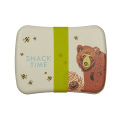 caja para almuerzo con goma de cierre estampada con oso