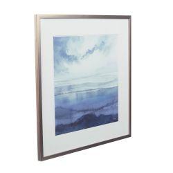 lámina enmarcada Blue Seascape 55x55