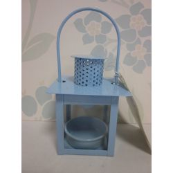 candelabro pequeño azul
