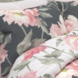 set de cama Peonies gris humo oscuro