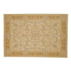 alfombra Victoriana oro y marfil