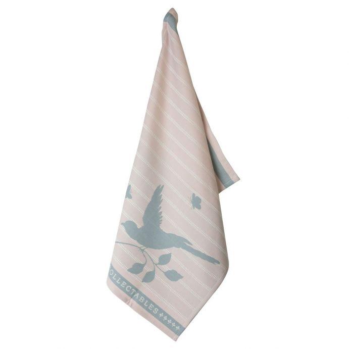 paño de cocina rosa Bird 50x70