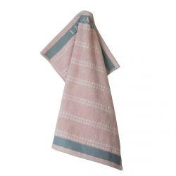 paño de cocina rosa rayas horizontales 50x50