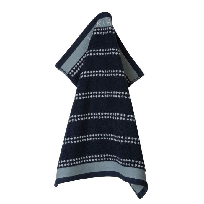 paño de cocina azul noche rayas horizontales 50x50