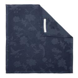 servilleta de algodón azul estampada de diseño