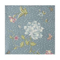 servilletas de papel azul estampado con flores de diseño