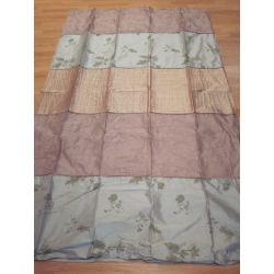 cortinas de seda Lupine malva y eau de nil