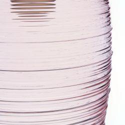 Colgante Willa Blush  de cristal rosado acanalado