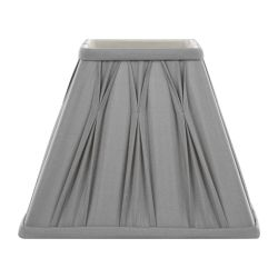 pantalla gris de seda plisada de base cuadrada