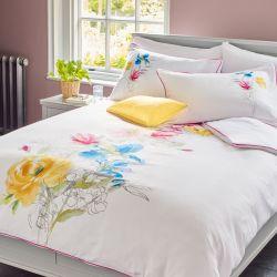 set de cama Corinne blanco multi