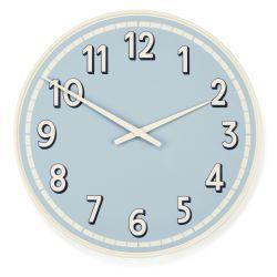 divertido reloj de pared azul y blanco con diseño joven y marinero
