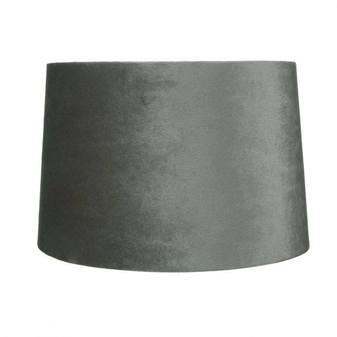 pantalla de terciopelo gris de diseño para bases de lámpara