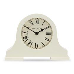 reloj de sobremesa color crema de acabado curvo clásico
