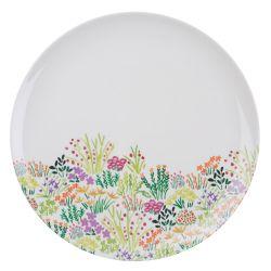 plato de melamina estampado con flores de colores