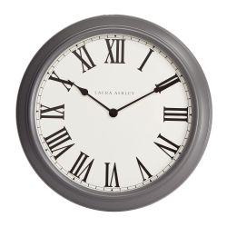reloj de pared clásico gris oscuro de gran tamaño