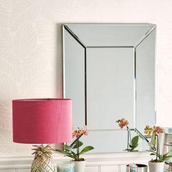 espejo pequeño con marco biselado de diseño ideal para tocador
