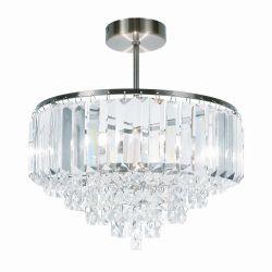 lámpara de techo de cristal de diseño clásico en plafón con soporte bronce envejecido