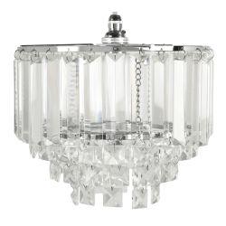soporte para colgar de portalámparas en cristal y cromo