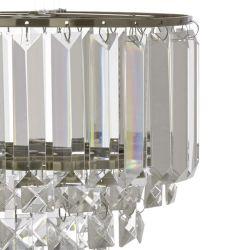 soporte para colgar de portalámparas en cristal y bronce