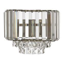aplique de pared de cristal con soporte bronce de diseño
