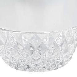 lámpara de techo en forma de copa inversa con cristal prensado
