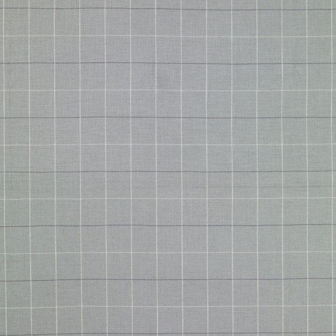 tejido de cuadros para tapizar en gris acero