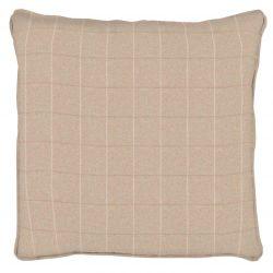 tejido de cuadros para tapizar y confección de cortinas en lino natural