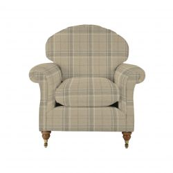 tejido de lana de cuadros para tapizar en color marrón