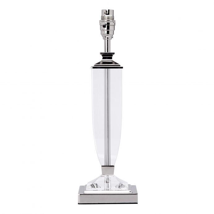 base de lámpara de cristal pulido y soporte níquel de diseño