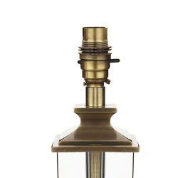 pie de lámpara de diseño en cristal y bronce elegante