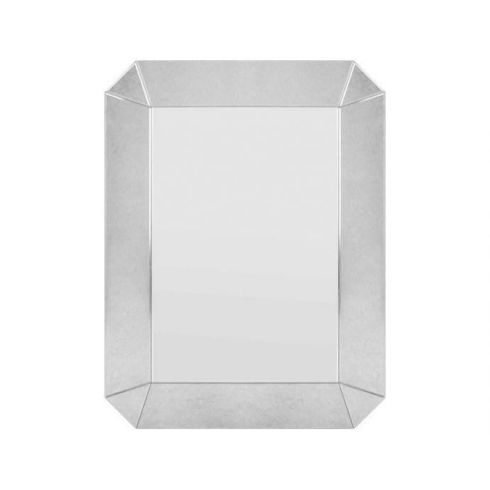 espejo de pared de diseño con marco biselado ahumado