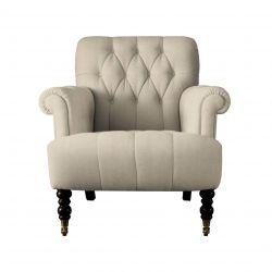 tela de chenilla lino natural para tapizar sofás y butacas de diseño
