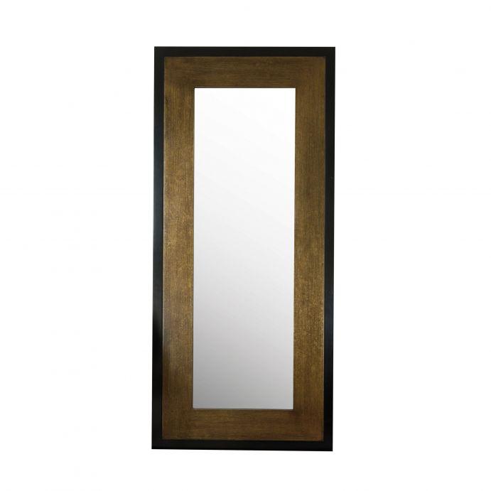 espejo Cara de suelo bronce