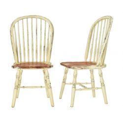 2 sillas de comedor en madera de estilo rústico de diseño