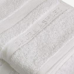 toallas de baño en algodón de calidad en color gris claro