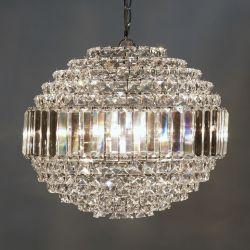 lámpara de techo de cristal en forma de globo de diseño